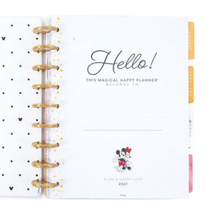Mickey and Minnie Grateful Heart Classic Vertical Happy Planner - 12 Months