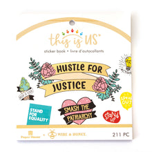 Load image into Gallery viewer, HUSTLE FOR JUSTICE MINI STICKER BOOK