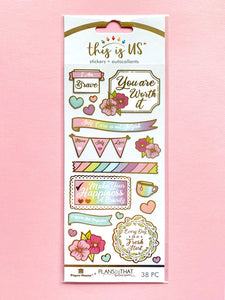 SELF CARE PASTELS GILDED STICKER