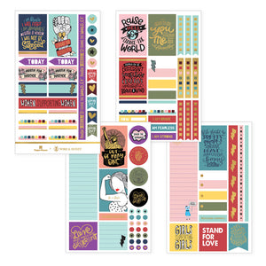 HUSTLE FOR JUSTICE WEEKLY KIT PLANNER STICKERS