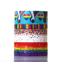 Load image into Gallery viewer, LOVE IS LOVE WASHI TAPE SET