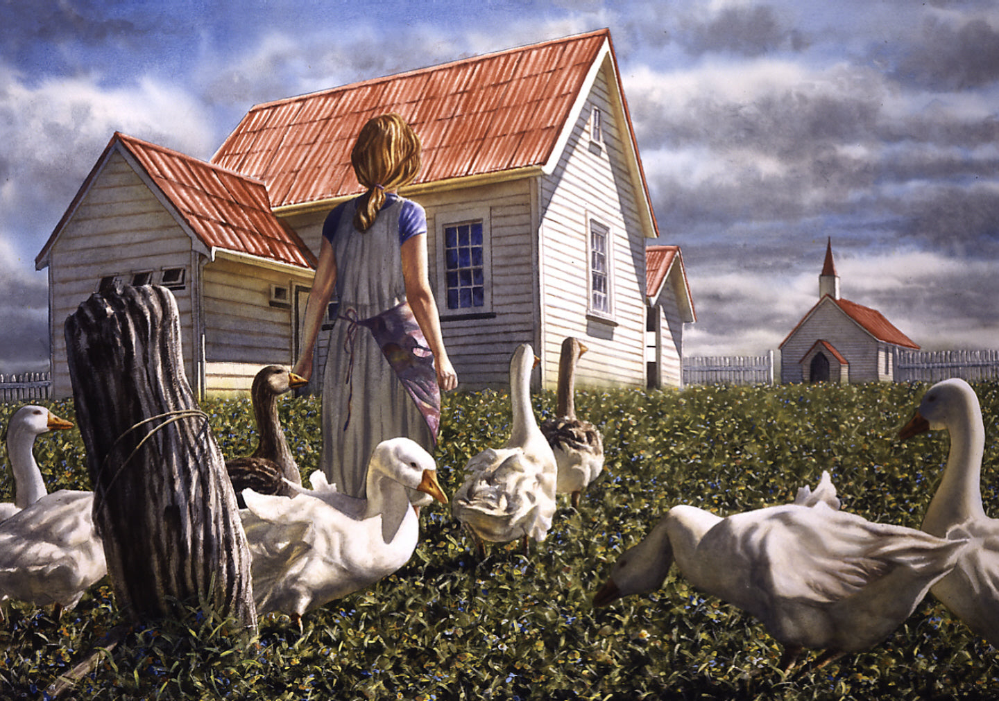 """Geese and Schoolhouse"" - Paul Coney"