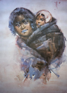 """Maori Woman and Child"" - Frances Hodgkins"