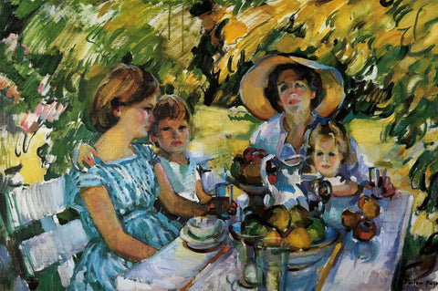 """Luncheon Under the Ash Tree""- Evelyn Page"