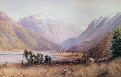 """Upper Rees Valley, Wakatipu"" - Laurence William Wilson"
