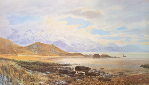"""Whaling Station on the Kaikoura Coast"", 1885 - John Gully"