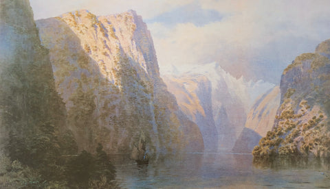 """Mt. Sheerdown from Milford Sound"", 1883 - John Gully"