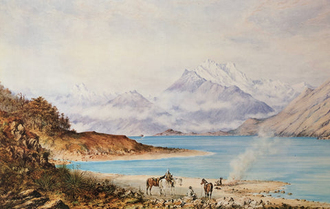 """Making Camp, Lake Wakatipu"" - Charles Decimus Barraud"