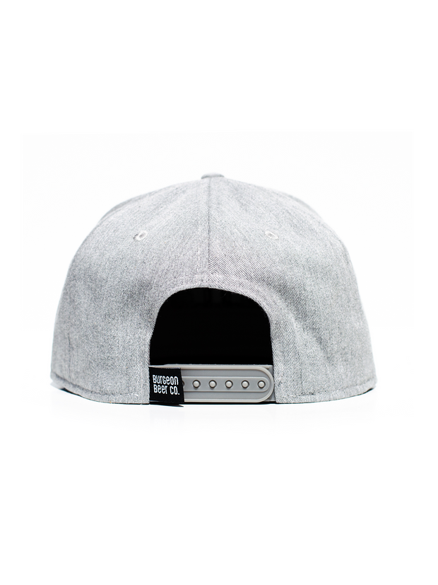 Grey 6-Panel Logo Hat