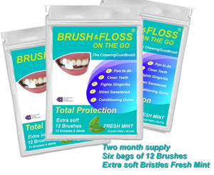 Brush & Floss on the GO | TWO month supply