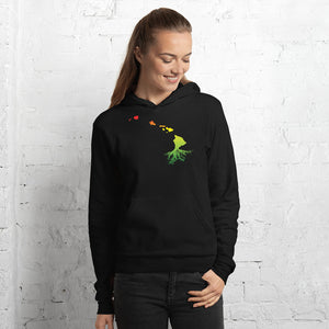 Women's Hawaiian Roots Pullover Fleece Hoodie - Island Reggae - Hawaii Vibes Clothing