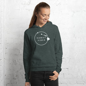 Women's Hawaii Vibe Pullover Fleece Hoodie - White - Hawaii Vibes Clothing