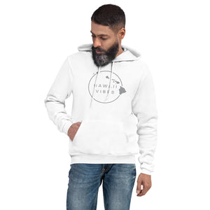 Men's Hawaii Vibe Pullover Fleece Hoodie - Ultimate Gray - Hawaii Vibes Clothing