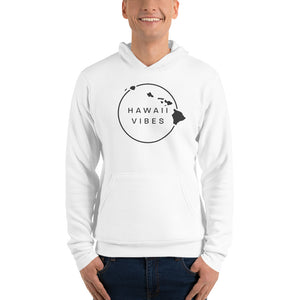 Men's Hawaii Vibe Pullover Fleece Hoodie - Gray - Hawaii Vibes Clothing
