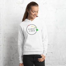 Load image into Gallery viewer, Women's Hawaii Vibe Pullover Fleece Hoodie - Island Reggae / Black - Hawaii Vibes Clothing