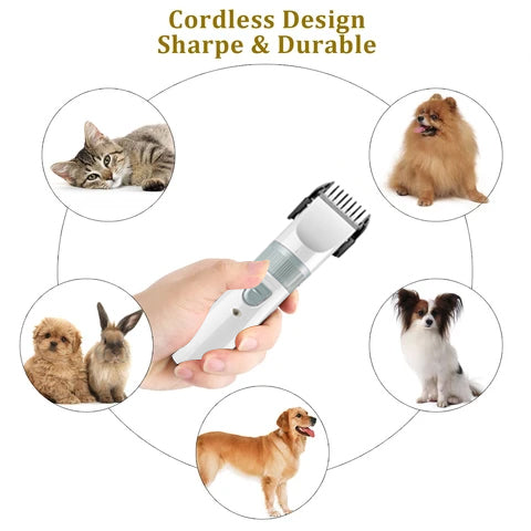Iherania Silent Pet Hair Clipper,Garden Light Solar