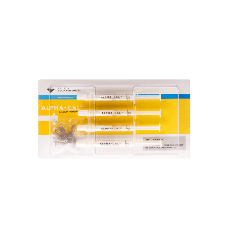 Alpha-Cal® Calcium Hydroxide Paste 4 x 1g Syringe Kit