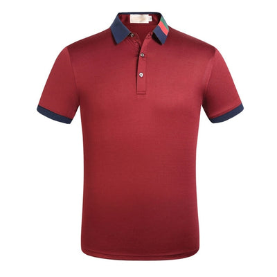 2019 Brand Quality Cotton Polo Shirt Men Solid Slim Fit Short Sleeve Polos Men Fashion Embroidery Men's Polo XXXL