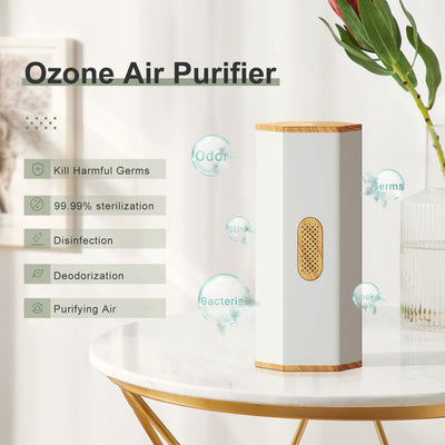 GXDiffuser Battery Air Purifier Ozone Generator Disinfect Deodorize Formaldehyde Air sterilizer Rechargeable Air Cleaner for Car