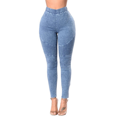 women Black jeans High Waist Denim vintage pants high elastic Skinny Pencil Stretch push up Casual Jeans streetwear Plus Size