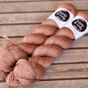 Merino Silk Yak Fingering - Peach Light