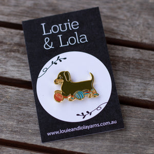 Lola Puppy Enamel Pin
