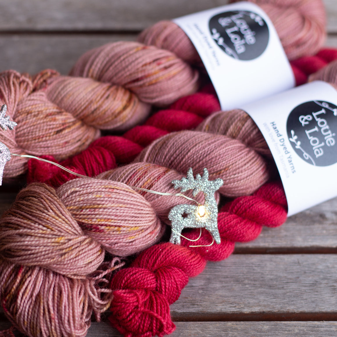 BFL Nylon Fingering - Ruby Sock Set