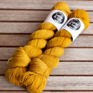 BFL Nylon Fingering - Old Gold