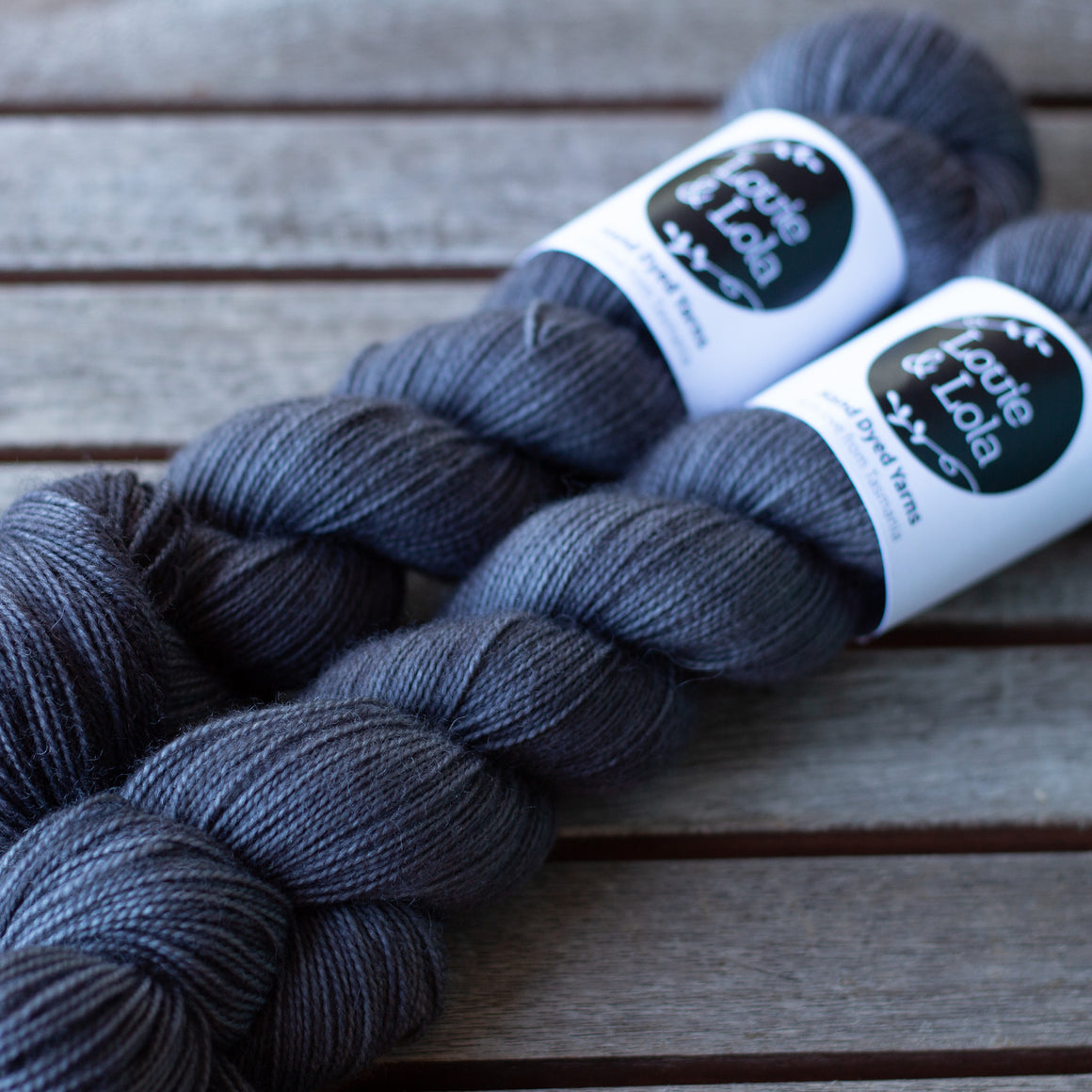 BFL Nylon Fingering - Charcoal