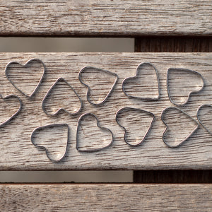 Fripperies & Bibelots Simple Solid Rings Heart Shaped Stitch Markers