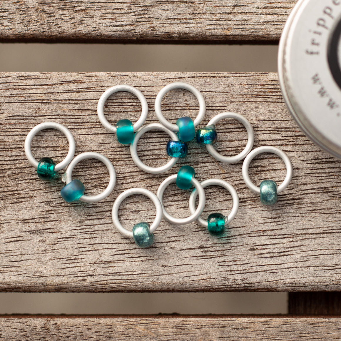 Fripperies & Bibelots RingOs Tealicious Stitch Markers