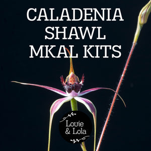 Caladenia Shawl MKAL - Rouge Kit