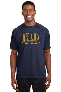 Iron Sharpens Iron - Dry Zone T-Shirt - SlimStrength ActiveWear - Apparel with Purpose