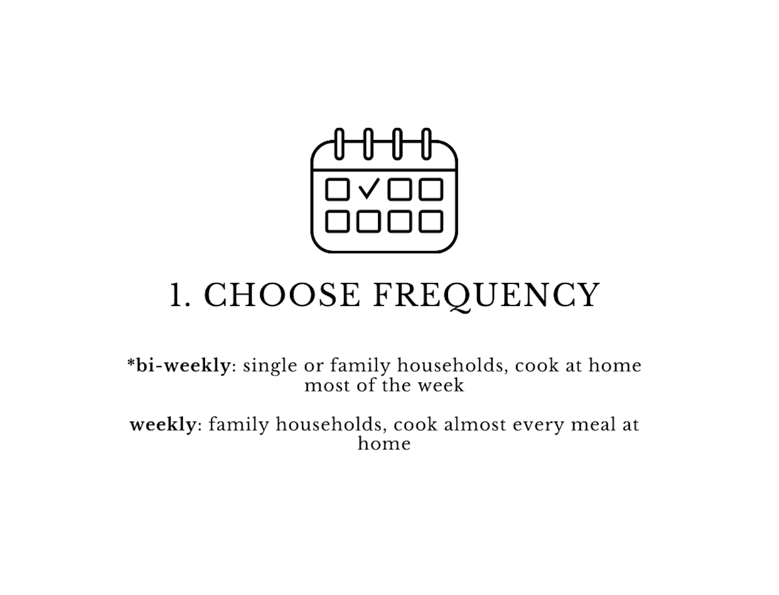 choose frequency