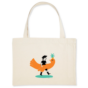 Collection - Sandra Poirotte - monOiseau - SHOPPING BAG - COTON BIO