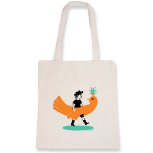 Collection - Sandra Poirotte - monOiseau - TOTEBAG - 100% COTON BIO