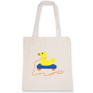 Collection Sandra Poirotte - monCanard - TOTEBAG - 100% COTON BIO