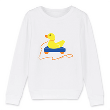 Charger l'image dans la galerie, Collection Sandra Poirotte - monCanard - SWEAT-SHIRT ENFANT BIO - MINI CHANGER