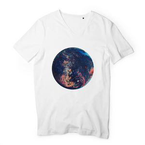 Collection Ji Loon - Space - T-SHIRT HOMME COL V - 100 % COTON BIO - TM044