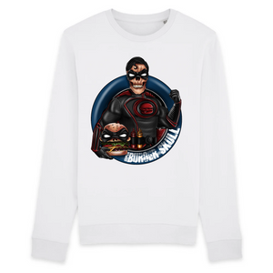 Collection Le comics'Art de Sam - Burger Skullman - SWEAT BIO UNISEXE - RISE