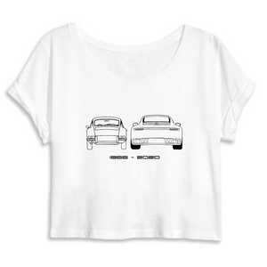 Collection j'aime les Porche - 1966 - 2020 -  CROP TOP FEMME 100% COTON BIO - MANTIS