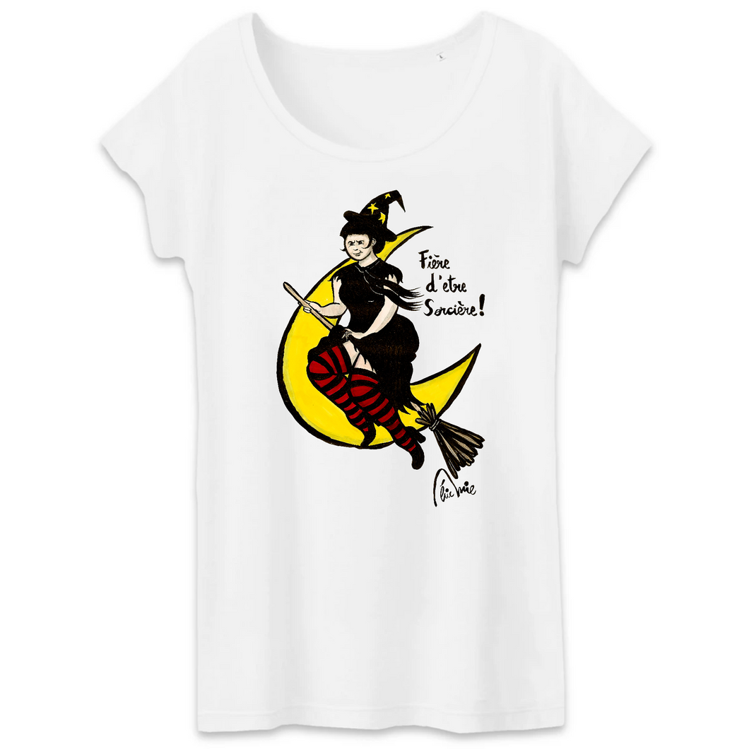 Collection Eric Mie - Pomme Halloween - T-SHIRT FEMME 100% COTON BIO - TW043