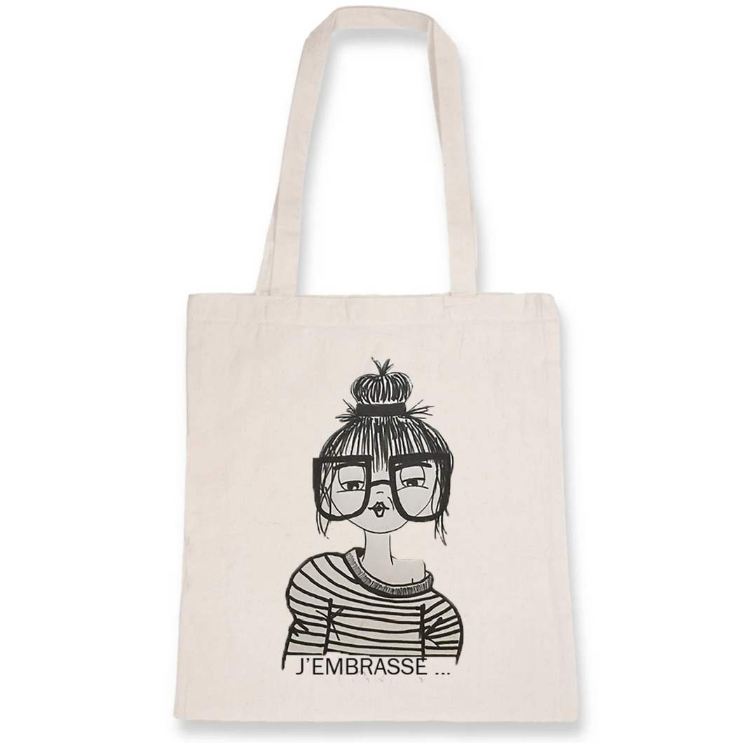 Collection Benjo - J'embrasse - TOTEBAG - 100% COTON BIO