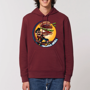 Collection Le comics'Art de Sam - The gourmet skater  - SWEAT À CAPUCHE BIO UNISEXE - DRUMMER