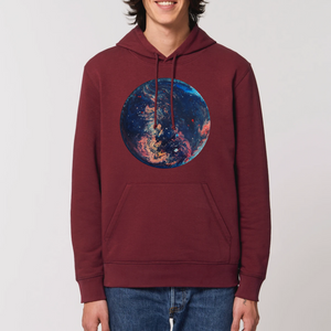 Collection Ji Loon - Space - SWEAT À CAPUCHE BIO UNISEXE - DRUMMER