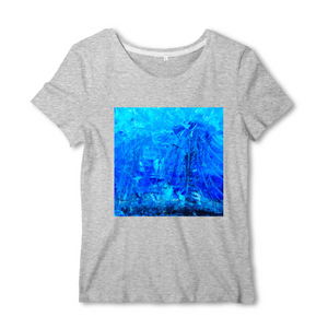 Collection Ji Loon - Blue Montain - T-SHIRT FEMME 100% COTON