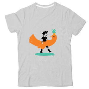 Collection - Sandra Poirotte - monOiseau - T-SHIRT ENFANT - 100 % COTON