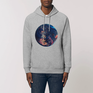 Collection Ji Loon - Space - SWEAT À CAPUCHE BIO UNISEXE - SIDER