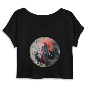 Collection Ji Loon - El Dragon - CROP TOP FEMME 100% COTON BIO - MANTIS