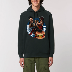 Collection Le comics'Art de Sam - The Burger Tattoo - SWEAT À CAPUCHE BIO UNISEXE - SIDER